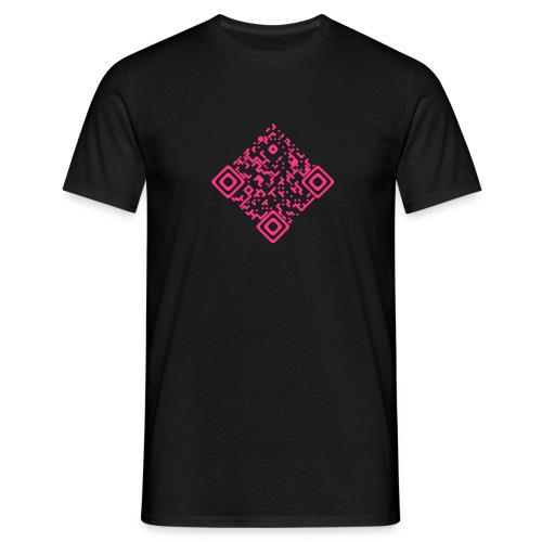 QR-Invers Front Neonpink - Männer T-Shirt