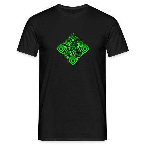 QR-Invers Front Neongrün - Männer T-Shirt