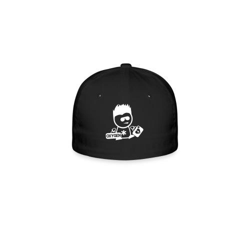 Retter-Sani-Nerd-Cap Schwarz - Flexfit Baseballkappe