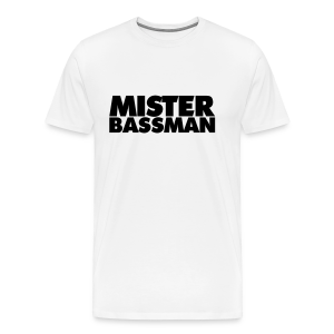 Mister Bassman T-Shirt (Weiß/Schwarz) Premium - Männer Premium T-Shirt