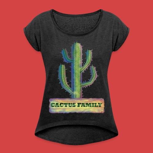 CACTUS FAMILY - T-shirt à manches retroussées Femme