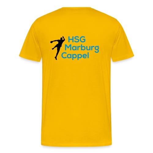 T-Shirt gelb, HSG-Logo hinten - Männer Premium T-Shirt