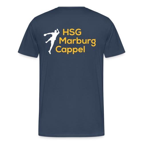T-Shirt blau, HSG-Logo hinten - Männer Premium T-Shirt