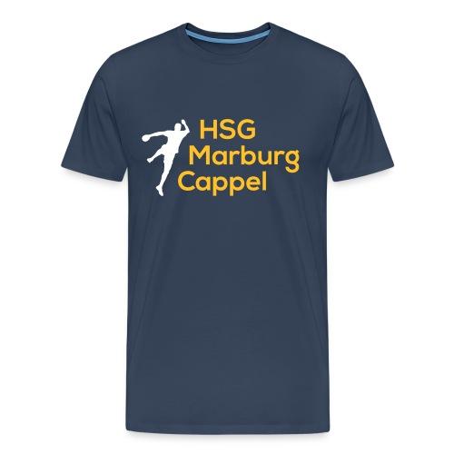 T-Shirt blau, HSG-Logo vorne - Männer Premium T-Shirt