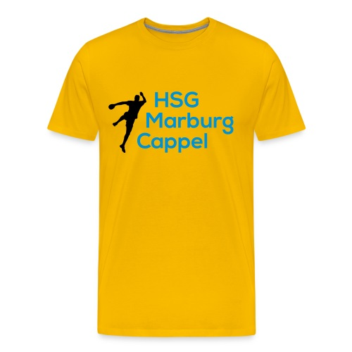 T-Shirt gelb, HSG-Logo vorne - Männer Premium T-Shirt