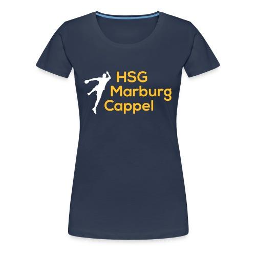 Ladyshirt blau, HSG-Logo vorne - Frauen Premium T-Shirt