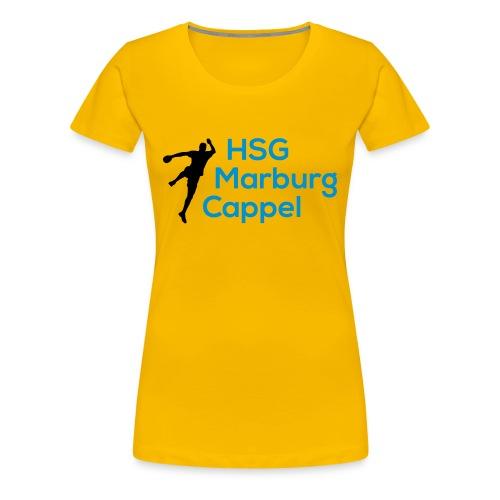 Ladyshirt gelb, HSG-Logo vorne - Frauen Premium T-Shirt