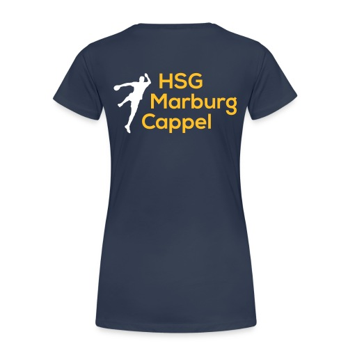 Ladyshirt blau, HSG-Logo hinten - Frauen Premium T-Shirt