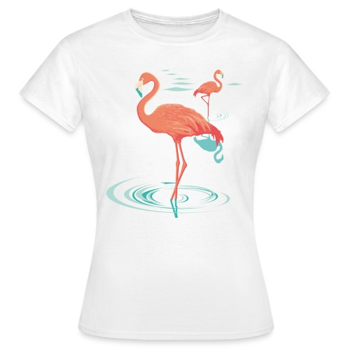 T-shirt flamant rose - pink flamingo - T-shirt Femme