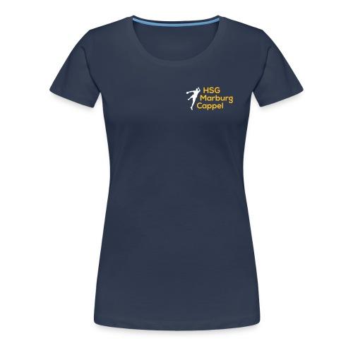 Ladyshirt navy, Logo klein auf Brust - Frauen Premium T-Shirt