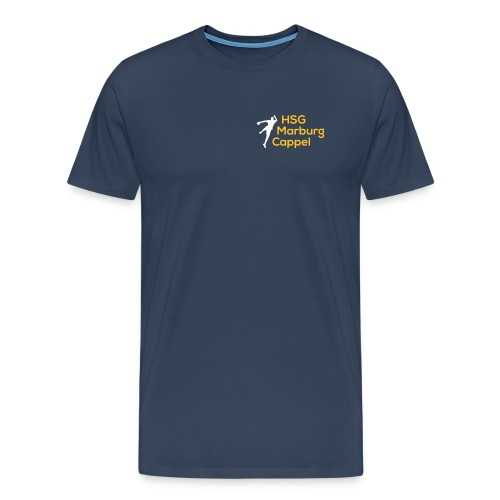 T-Shirt navy, Logo klein auf Brust - Männer Premium T-Shirt