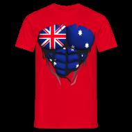 Tee shirts ~ Tee shirt Homme ~ Torse musclé drapeau pays Australie
