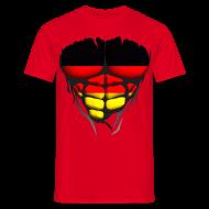 Tee shirts ~ Tee shirt Homme ~ Torse musclé drapeau pays Allemagne