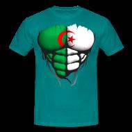 Tee shirts ~ Tee shirt Homme ~ Torse musclé drapeau pays Algerie