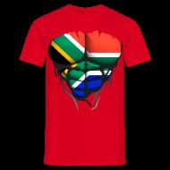 Tee shirts ~ Tee shirt Homme ~ Torse musclé drapeau pays Afrique du sud