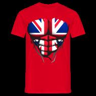 Tee shirts ~ Tee shirt Homme ~ Torse musclé drapeau pays Angleterre