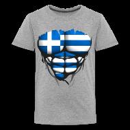 Tee shirts ~ T-shirt Premium Ado ~ Torse musclé drapeau pays Grece
