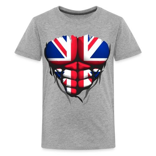 Torse musclé drapeau pays Angleterre - T-shirt Premium Ado