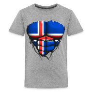 Tee shirts ~ T-shirt Premium Ado ~ Torse musclé drapeau pays Islande