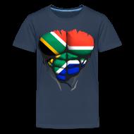 Tee shirts ~ T-shirt Premium Ado ~ Torse musclé drapeau pays Afrique du Sud