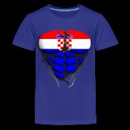 Tee shirts ~ T-shirt Premium Ado ~ Torse musclé drapeau pays Croatie