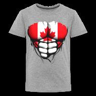 Tee shirts ~ T-shirt Premium Ado ~ Torse musclé drapeau pays Canada