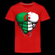 Tee shirts ~ T-shirt Premium Ado ~ Torse musclé drapeau pays Algerie