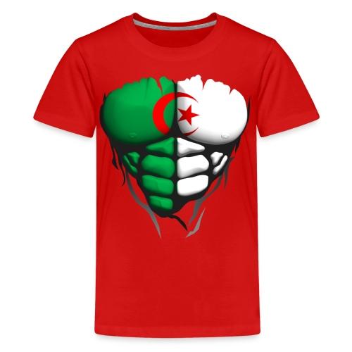 Torse musclé drapeau pays Algerie - T-shirt Premium Ado
