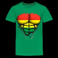 Tee shirts ~ T-shirt Premium Ado ~ Torse musclé drapeau pays Lituanie
