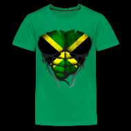 Tee shirts ~ T-shirt Premium Ado ~ Torse musclé drapeau pays Jamaïque