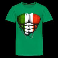 Tee shirts ~ T-shirt Premium Ado ~ Torse musclé drapeau pays Italie