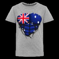 Tee shirts ~ T-shirt Premium Ado ~ Torse musclé drapeau pays Australie
