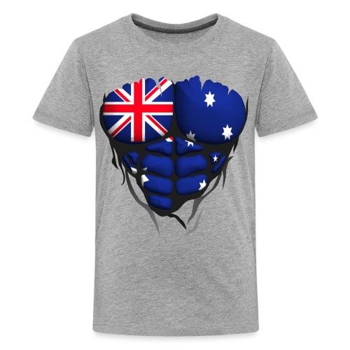 Torse musclé drapeau pays Australie - T-shirt Premium Ado