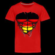 Tee shirts ~ T-shirt Premium Ado ~ Torse musclé drapeau pays Allemagne