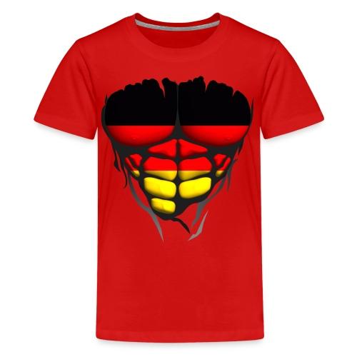 Torse musclé drapeau pays Allemagne - T-shirt Premium Ado