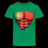 Tee shirts ~ T-shirt Premium Ado ~ Torse musclé drapeau pays Portugal