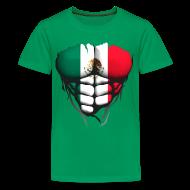 Tee shirts ~ T-shirt Premium Ado ~ Torse musclé drapeau pays Mexique