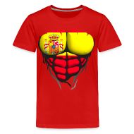 Tee shirts ~ T-shirt Premium Ado ~ Torse musclé drapeau pays Espagne