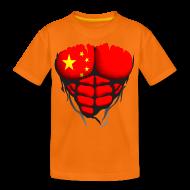 Tee shirts ~ T-shirt Premium Ado ~ Torse musclé drapeau pays Chine