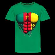 Tee shirts ~ T-shirt Premium Ado ~ Torse musclé drapeau pays Cameroun