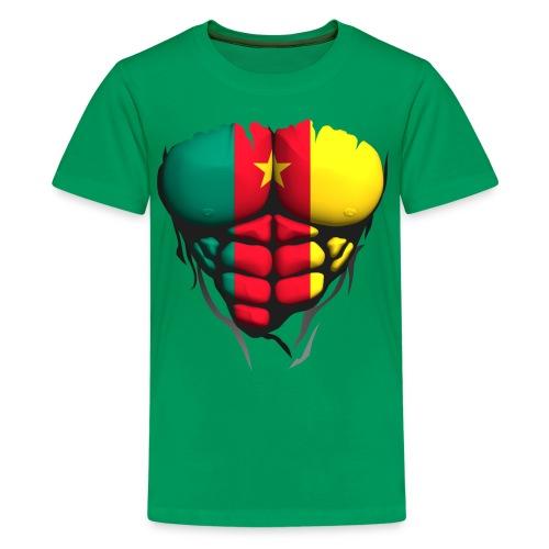 Torse musclé drapeau pays Cameroun - T-shirt Premium Ado