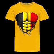 Tee shirts ~ T-shirt Premium Ado ~ Torse musclé drapeau pays Belgique