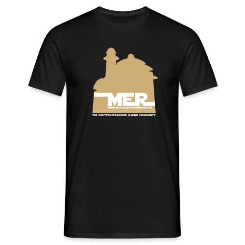 Mos Eisley Raumhafen Logo Frontdruck - Männer T-Shirt