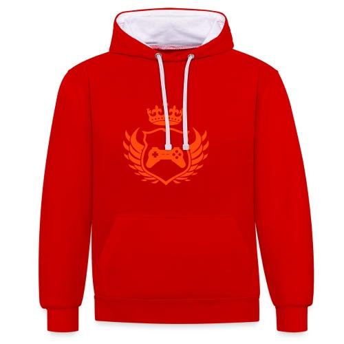 game king hoodie - Contrast hoodie