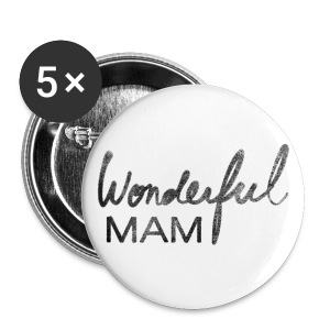 Grand badge Wonderful Mam - Badge grand 56 mm