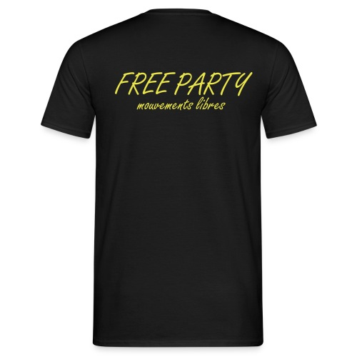 FREE PARTY, Mouvements Libres - T-shirt Homme