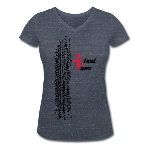 Shirt Vrouw - 2 Fast 4 You - Women's Organic V-Neck T-Shirt by Stanley & Stella