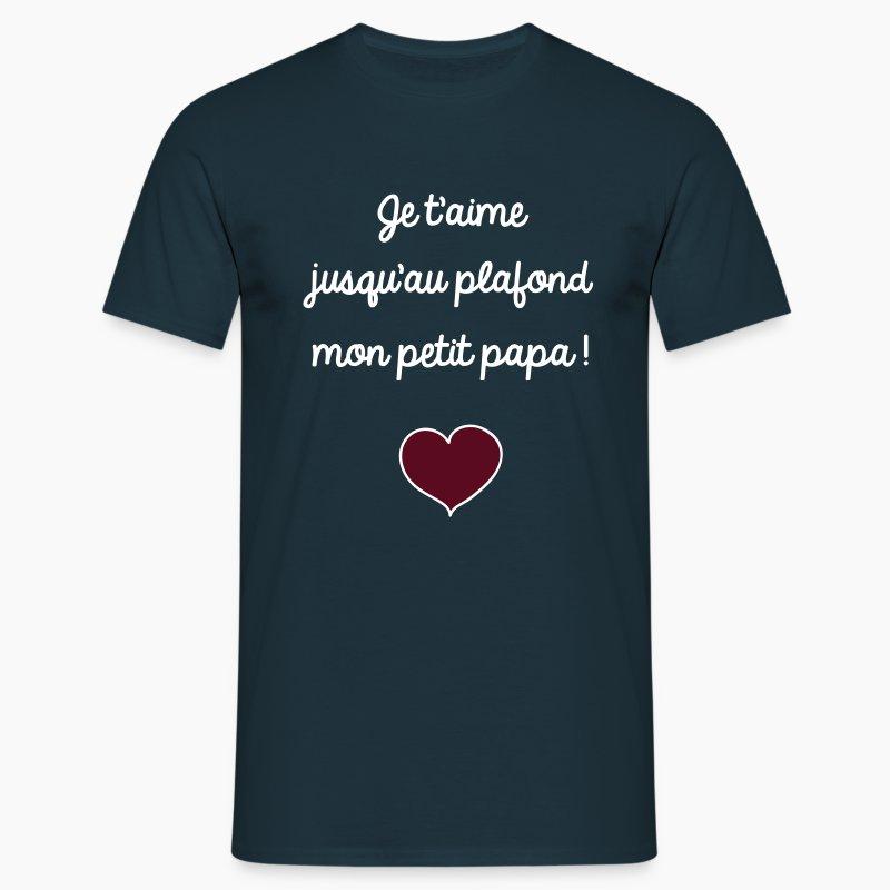 t shirt f te papa d 39 amour je t 39 aime cadeau f te des p res spreadshirt. Black Bedroom Furniture Sets. Home Design Ideas
