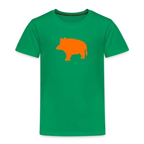 Kinder-Jägershirt Wildschwein orange - Kinder Premium T-Shirt