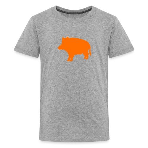 Tennager-T-Shirt Wildschwein orange - Teenager Premium T-Shirt